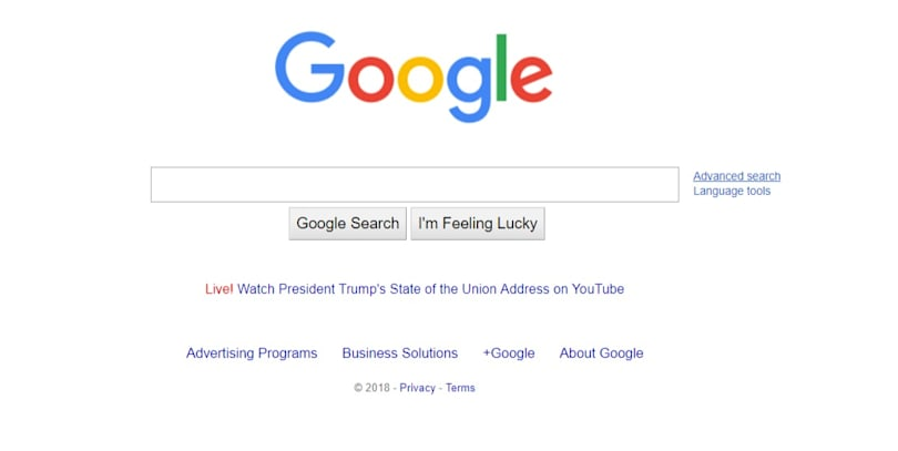 Google refutes Trump accusation over State of the Union links