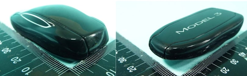 Bluetooth key fob for Tesla Model 3 spotted in FCC pictures
