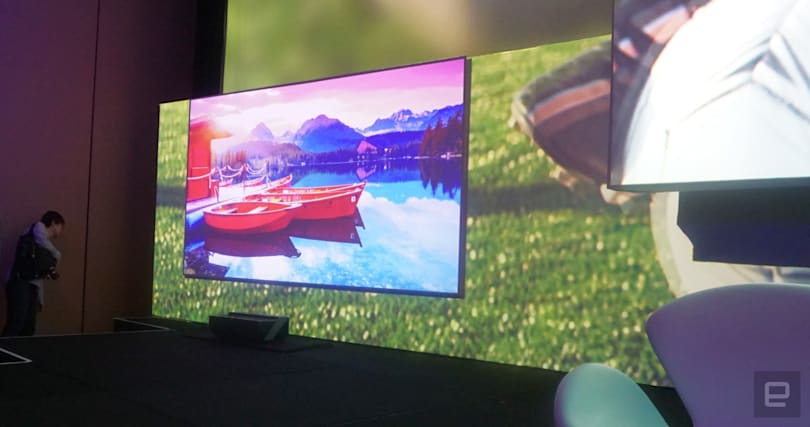 Hisense shows a 150-inch 4K 'Laser TV' projector