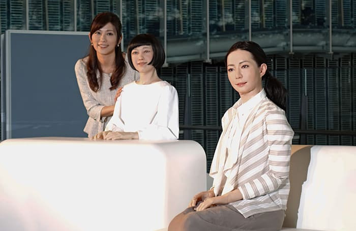 Meet the multilingual robot newscaster with a very human face