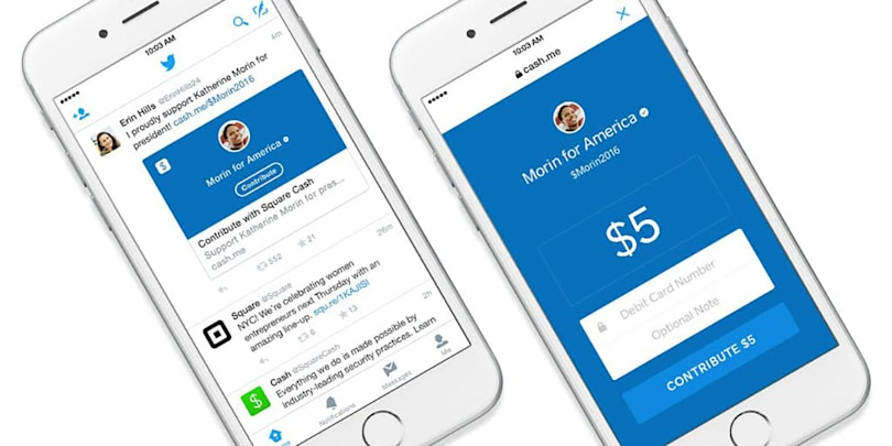 Square accepts your political donations with a tweet