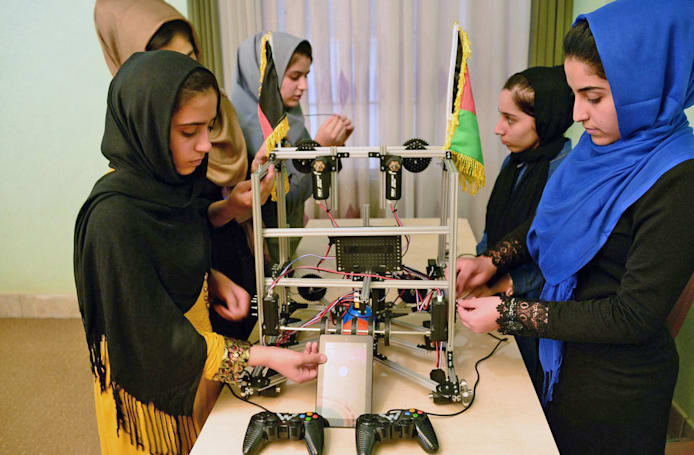 Afghan girls robotics team will compete in the US after all
