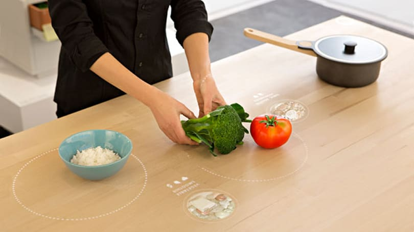 IKEA's future kitchen tells you how to cook