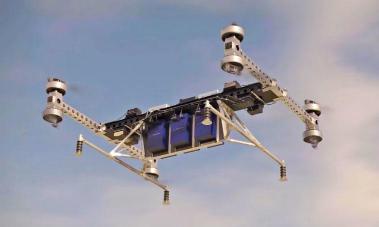 波音的送货用無人机可以拖动约 225 公斤的货物