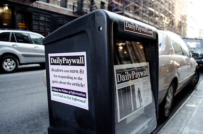 Artist pays you to read the news hidden behind online paywalls