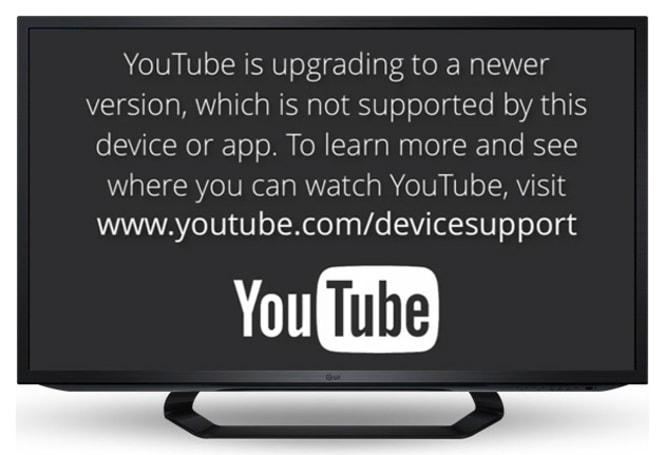 要来的躲不了:YouTube 将不支持旧世代 smart TV 和 iOS 装置