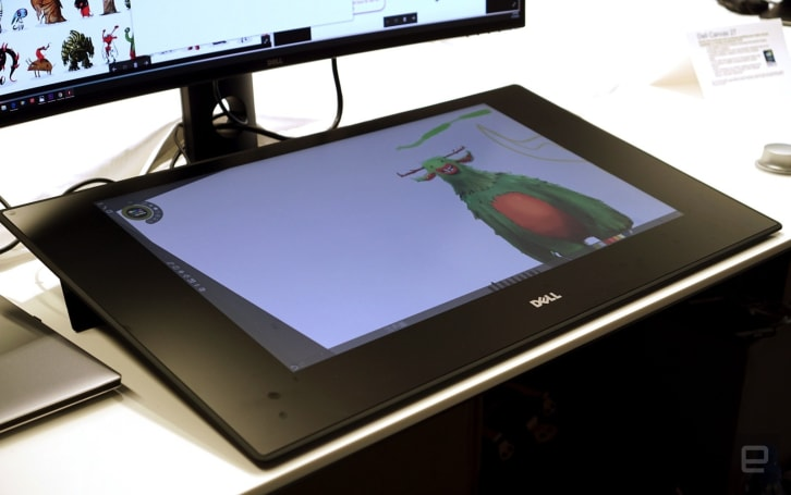 Dell's massive Canvas display for artists is available for $1,800