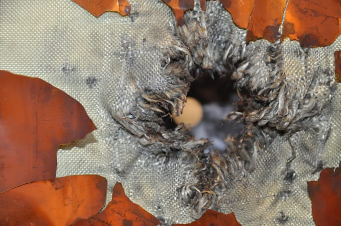 The Big Picture: Punching a hole in a (simulated) spacecraft