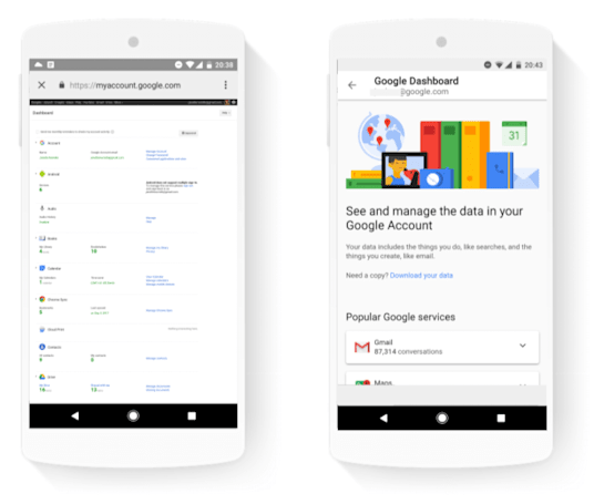 Google's Dashboard redesign simplifies your privacy tools