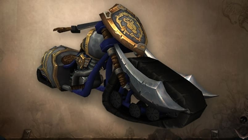 World of Warcraft adds the Alliance motorcycle after all