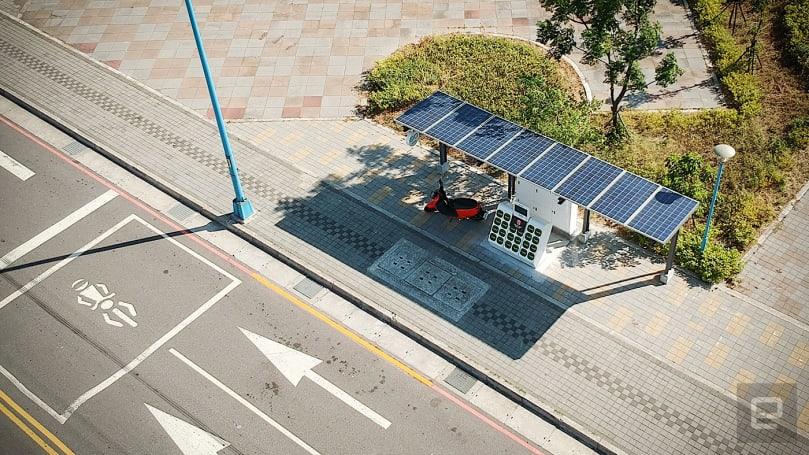 Gogoro 首座太陽能換電站啟用,正式朝綠能目標邁進