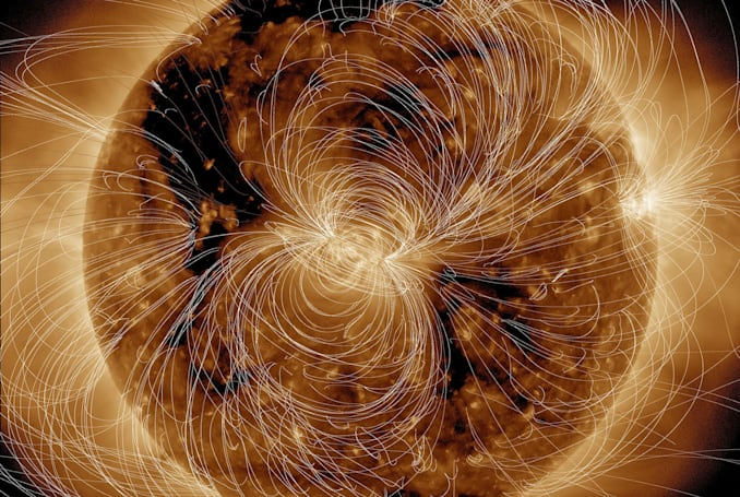Just another day in our Sun's crazy magnetic life