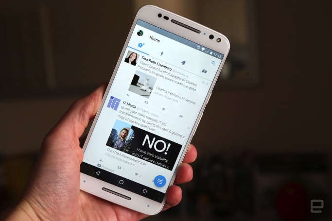 Twitter's Android app gets the Material Design treatment