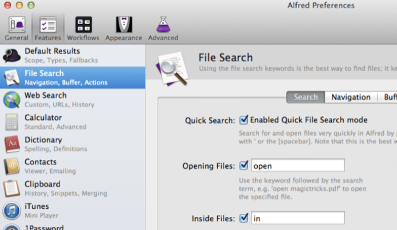 Alfred 2.3 adds external triggers and more