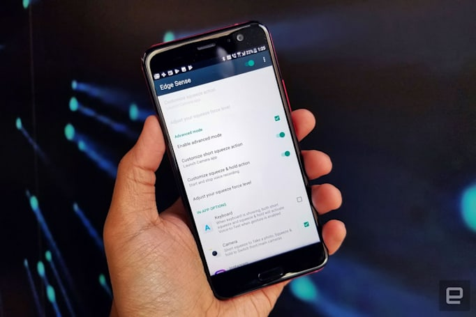 Squeezing your HTC U11 will do a lot more soon