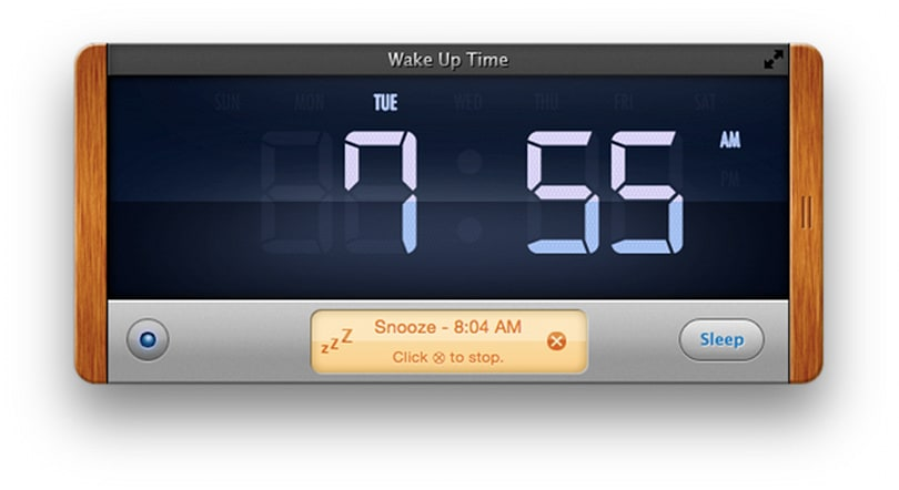 Wake Up Time alarm is a simple, effective desktop companion as long as its awake