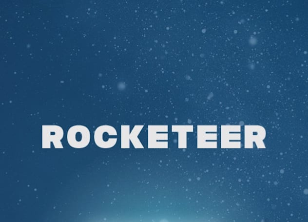 Rocketeer! flies, but not exactly out of this world