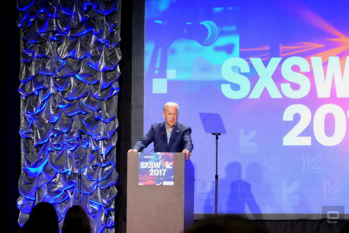 Joe Biden implores SXSW crowd to use its talents to fight cancer
