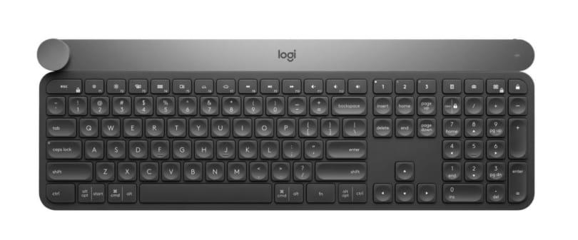 罗技发布附带「创意转钮」的 Craft 无线背光键盘