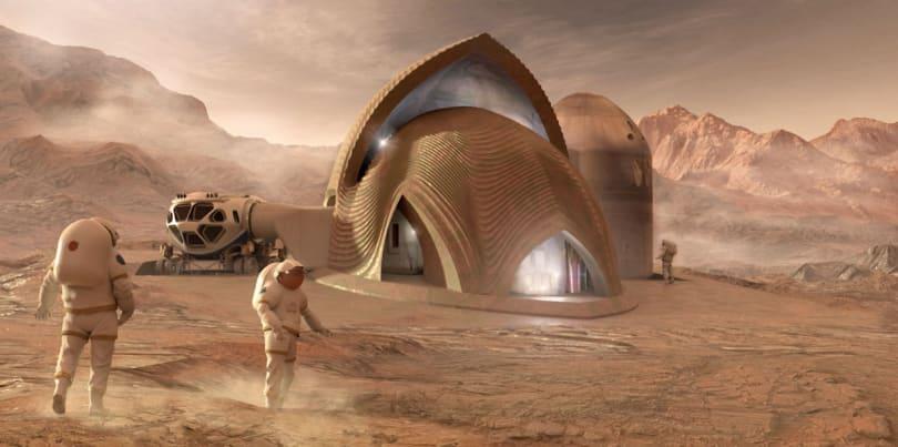 NASA contest finalists show off their Mars habitat models
