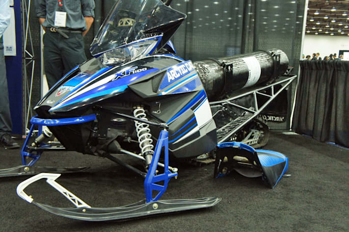 UMaine's clean snowmobile runs on (a lot of) natural gas