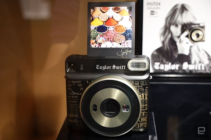 Fujifilm shakes it off with a Taylor Swift-themed instant camera