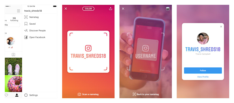 Instagram uses Snapchat-like tags to make adding friends easier