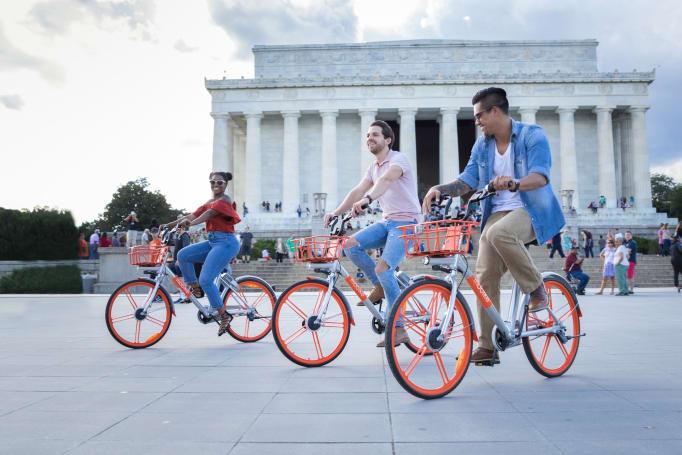 Mobike's dockless bike-sharing service comes to Washington, DC