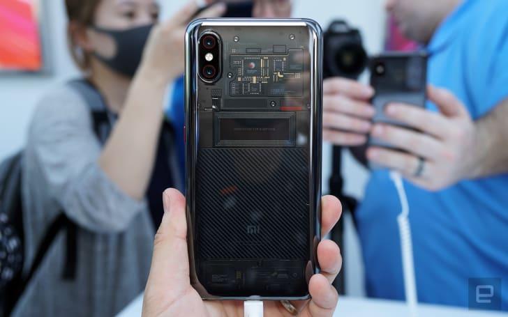 A closer look at the transparent Xiaomi Mi 8