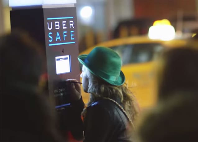 Uber's breathalyzer kiosk gets you a ride home if you're drunk