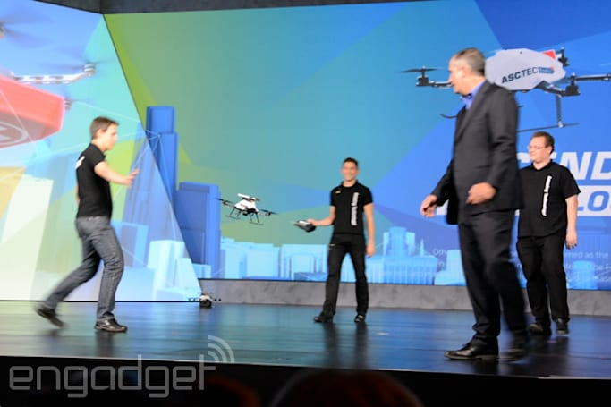Watch how Intel's depth cameras let you play 'drone ping pong'