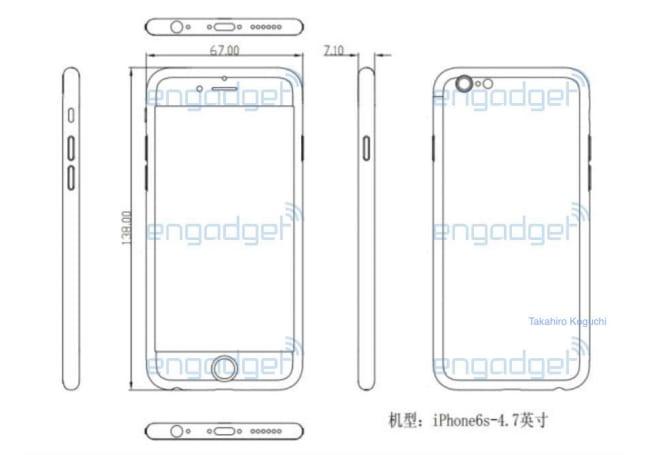 設計圖揭露「4.7 吋 iPhone 6s」的厚度將增加到 7.1mm
