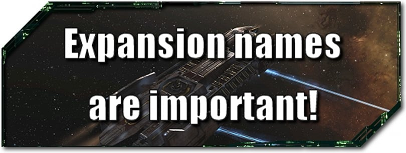EVE Evolved: Expansion names are important!