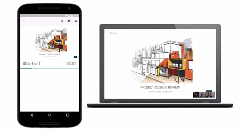 Google Hangouts 将支持显示 Slides 简报功能