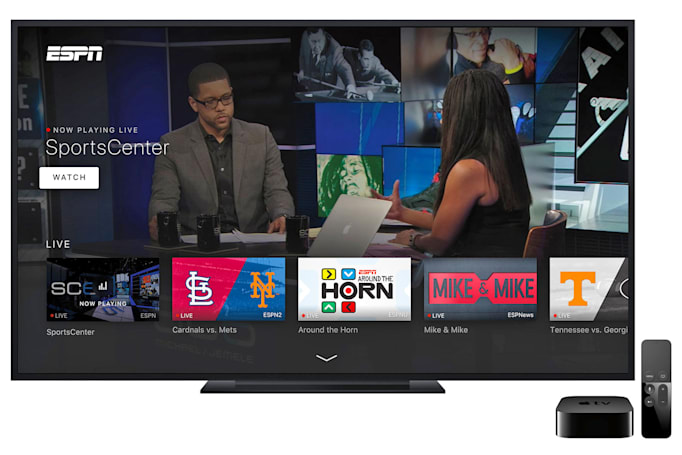 ESPN's new Apple TV app behaves like your cable box