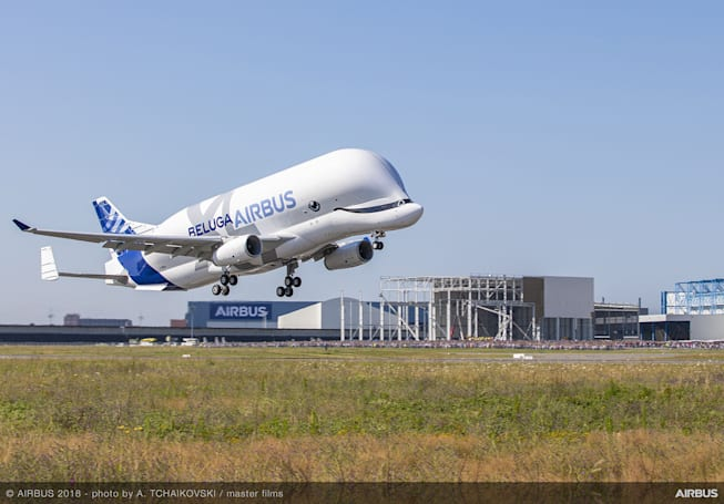 空中客车的新大型运输机 Beluga XL 成功首飞