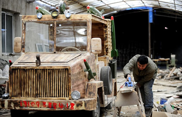 The Big Picture: Building an electric 'armored' car out of wood