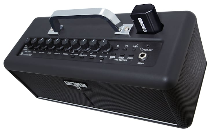 Boss Katana-Air is a compact wireless guitar amp you can use anywhere
