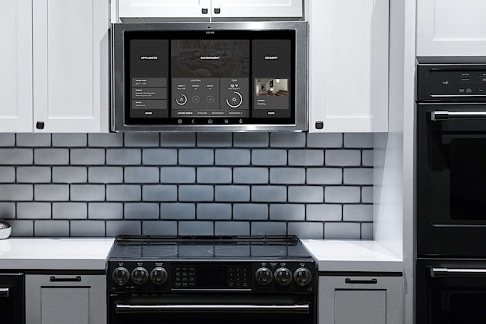 GE made a giant Echo Show rival that lives above your stove