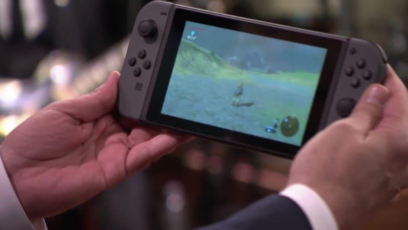 任天堂 Switch 真机亮相美国脱口秀节目