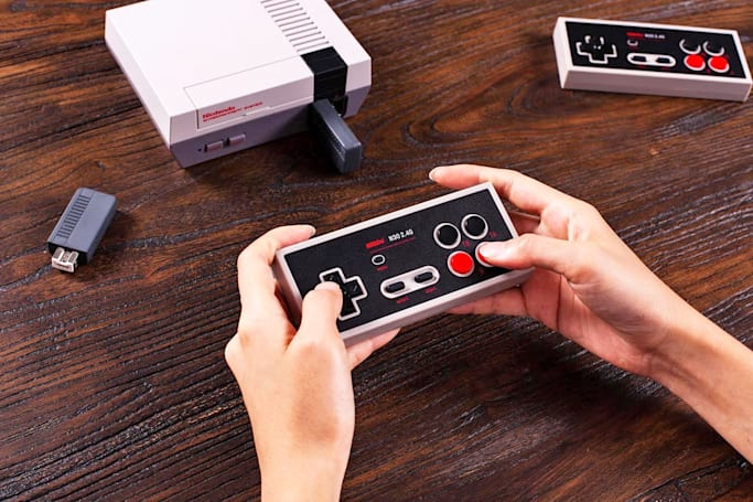 8BitDo put a handy home button on its NES Classic wireless controller
