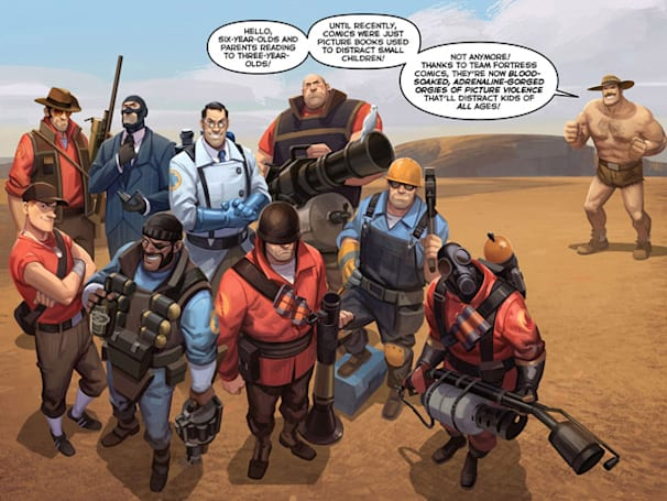 Catch up on Team Fortress 2 storyline with new comic