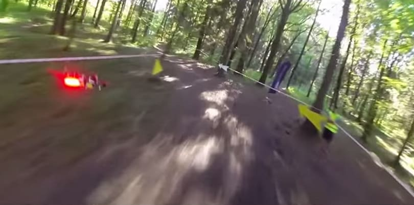 Drone racing in the woods evokes more than a few Star Wars memories
