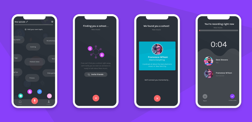 Anchor's new Cohost feature matches podcasters with similar interests