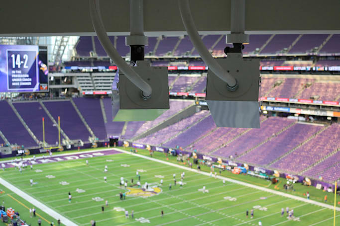 Intel installed its 3D camera system in eight more NFL stadiums