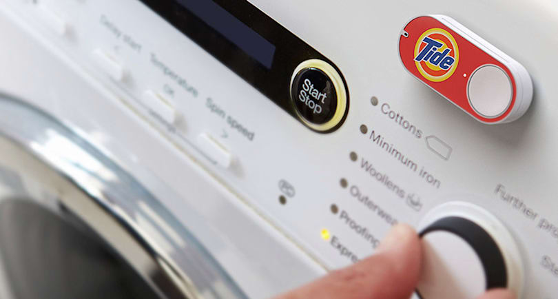 Amazon Dash is ready to refill your printer or washing machine