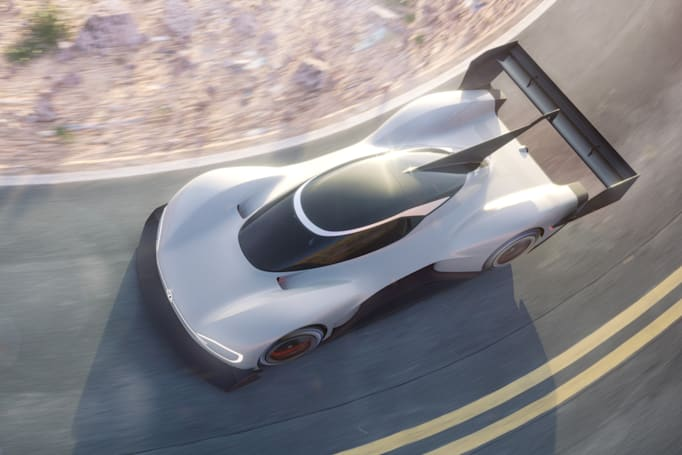 VW unveils electric race car built to tackle Pikes Peak