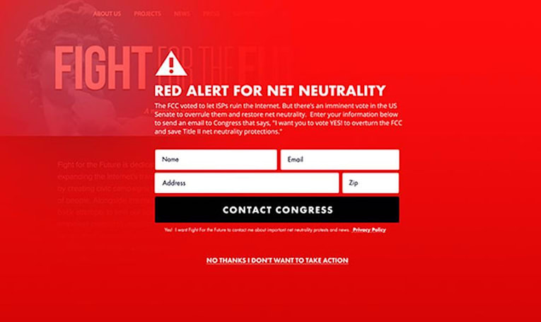 Tumblr and Etsy among those posting 'red alerts' for net neutrality