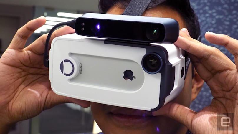 Mixed reality comes to your iPhone thanks to the Bridge headset