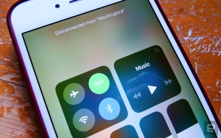 其實 iOS 11 的控制中心並不能真正關閉藍牙與 Wi-Fi